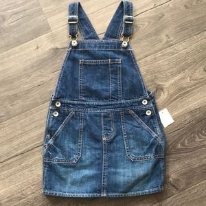 NWT gap denim overall dress